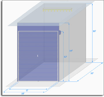 Unit sketch. Size may not be proportional. Actual unit dimensions may vary.